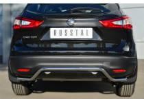 """Защита заднего бампера """"волна"""" d42 для Nissan Qashqai (2014-)"""