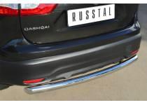 Защита заднего бампера d63 для Nissan Qashqai (2014-)