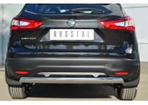 Защита заднего бампера d75/42 для Nissan Qashqai (2014-)