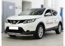 Защита переднего бампера двойная d53/43 для Nissan Qashqai (2014-)
