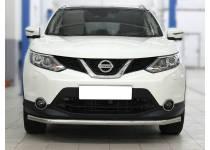 Защита переднего бампера длинная d53 для Nissan Qashqai (2014-)