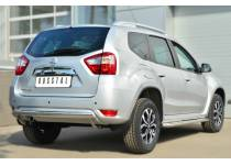 Защита заднего бампера овальная d75/42 для Nissan Terrano (2014-)