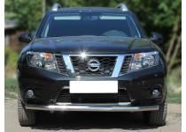 Защита переднего бампера d60 для Nissan Terrano (2014-)