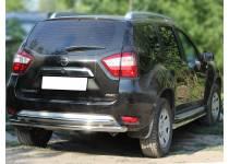 Защита заднего бампера двойная d60/53 для Nissan Terrano (2014-)