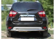 Защита заднего бампера d60 для Nissan Terrano (2014-)
