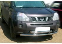 Защита переднего бампера двойная d60 для Nissan X-Trail (2007-2011)