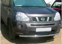 Защита переднего бампера d60 для Nissan X-Trail (2011-2014)