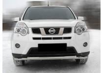 Защита переднего бампера двойная d60/53 для Nissan X-Trail (2011-2014)