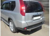 Защита заднего бампера d60 для Nissan X-Trail (2011-2014)