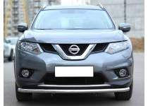 Защита переднего бампера d53 для Nissan X-Trail (2015-)
