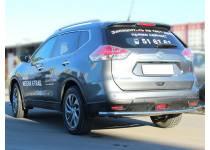 Защита заднего бампера d53 для Nissan X-Trail (2015-)