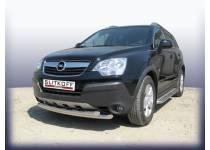 Защита переднего бампера двойная d57 для Opel Antara (2007-2010)
