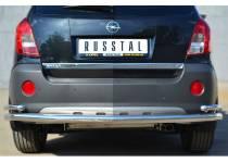 Защита заднего бампера с уголками d63/42 для Opel Antara (2012-)