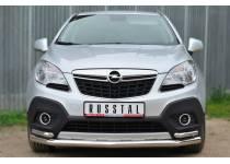 Защита переднего бампера с уголками d63/42 для Opel Mokka (2012-)