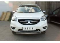 Защита переднего бампера d75/42 овал для Renault Koleos (2012-)