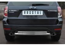Защита заднего бампера двойная d63/42 для Subaru Forester (2009-2013)
