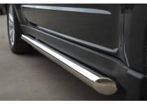 Пороги труба d63 (вариант 1) для Subaru Forester (2009-2013)