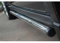 Пороги труба d63 (вариант 2) для Subaru Forester (2009-2013)