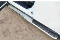 Пороги труба d42 с накладным листом для Subaru Forester (2013-)