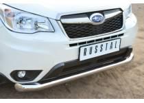 Защита переднего бампера d76 для Subaru Forester (2013-)