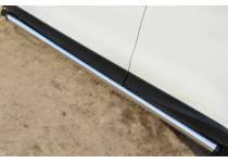 Пороги труба d63 (вариант 2) для Subaru Forester (2013-)