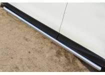 Пороги труба d63 (вариант 3) для Subaru Forester (2013-)