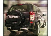 Защита заднего бампера двойная d60/53 для Suzuki Grand Vitara (5 дв.) (2005-2008)