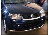 Защита переднего бампера d60 (загибами) для Suzuki Grand Vitara (5 дв.) (2005-2008)