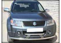 Защита переднего бампера двойная d60/60 для Suzuki Grand Vitara (5 дв.) (2005-2008)