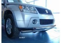 Защита переднего бампера двойная d60/60 для Suzuki Grand Vitara (5 дв.) (2008-2012)