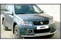 Защита переднего бампера двойная d53/43 для Suzuki Grand Vitara (5 дв.) (2008-2012)