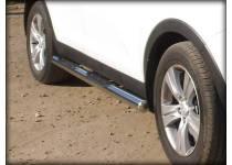 Пороги труба d63 с накладками для Suzuki Grand Vitara (5 дв.) (2008-2012)