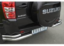 Уголки двойные d63/42 для Suzuki Grand Vitara (5 дв.) (2012-2014)