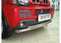 Защита переднего бампера двойная d63/42 для Suzuki Jimny (2005-2012)