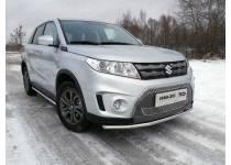 Защита передняя нижняя 42,4 мм для Suzuki Grand Vitara (2015-)