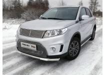 Защита передняя нижняя (с ДХО) 60,3 мм для Suzuki Grand Vitara (2015-)