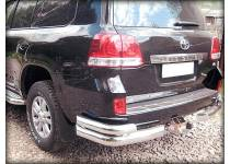Уголки двойные большие d100/60 для Toyota Land Cruiser 200 (2016-)