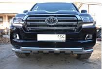 Защита переднего бампера d76/76 для Toyota Land Cruiser 200 (2016-)