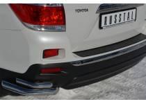 Уголки двойные d63/42 для Toyota Highlander (2010-2013)