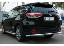 Защита заднего бампера полноразмерная d63 для Toyota Highlander (2014-)