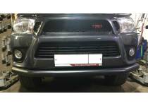 Защита переднего бампера d76, черная для Toyota Hilux Revo (2015-2018)
