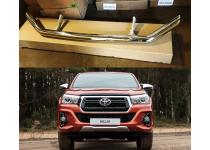 Защита переднего бампера d76 для Toyota Hilux Ecsclusive 2018+