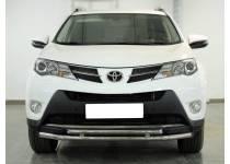 Защита переднего бампера двойная d53/42 для Toyota Rav4 (2013-2015)