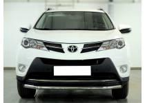 Защита переднего бампера d53 для Toyota Rav4 (2013-2015)