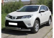 Защита переднего бампера двойная d53/53 для Toyota Rav4 (2013-2015)