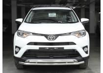 Защита переднего бампера двойная d53/43 для Toyota Rav4 (2016-)