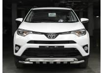 Защита переднего бампера d53/53 (с накладками) для Toyota Rav4 (2016-)