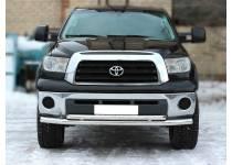 Защита переднего бампера двойная d76/60 для Toyota Tundra (2007-2013)