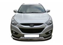 Защита переднего бампера двойная d60/42 для Hyundai IX35 (2009-2015)