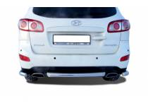 Защита заднего бампера центральная d60 для Hyundai Santa Fe (2010-2012)